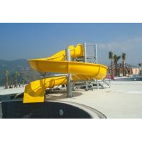 Wholesale Commercial Outdoor Spiral Water Slides For Adults And Kids , 3m Height from china suppliers