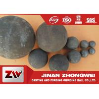 China 40mm 60mm B2 Material forged grinding ball media , steel balls for ball mill on sale