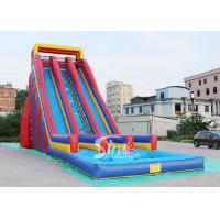 Wholesale 10m high giant inflatable water slide for adults made of heavy duty pvc tarpaulin from china suppliers