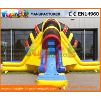 Wholesale Funny Commercial Inflatable Slide For Kids , Three Lane Inflatable Dry Slide from china suppliers