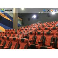 Wholesale Large Mobile 4D Movie Theater Equipment  , Motion Chairs With Comfortable Headrest And Cup Saucer from china suppliers