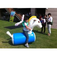 Wholesale Fun Playing Inflatable Sports Toys Safe PVC Tarpaulin Inflatable Horse Racing from china suppliers