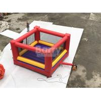 Wholesale Ultimate Red And Yellow Kids / Adults Inflatable Sports Games Giant Bouncy Boxing With Gloves from china suppliers