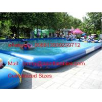 Factory Price Customized 0.9MM PVC Tarpaulin Commercial Water Games Inflatable Swimming Pool For Sale