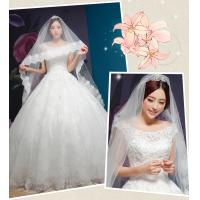 Wholesale Rhinestone Round Neckline Sweetheart Lace Wedding Dress for Girls , Womens , Ladies from china suppliers