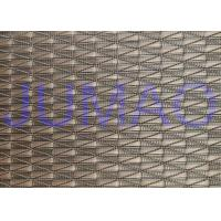 China Glass Laminated Architectural Argyle Red Copper Wire Mesh Fabric 2000mm Width on sale