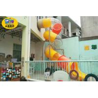 Wholesale Children Outdoor Playground Tube Slide  Plastic Environmental Protection from china suppliers