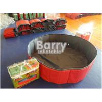 Wholesale Red PVC Foldable Dog Pet Inflatable Swimming Pool Customized Size from china suppliers