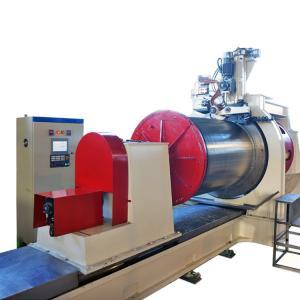 Diameter 600mm Wedge Wire Screen Welding Machine , Wire Mesh Making Machine
