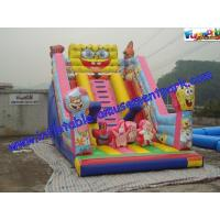 Wholesale Cute Spongebob Commercial Inflatable Water Jumping Castle Slide For Kids EN14960 from china suppliers