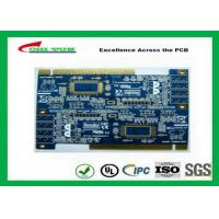 Wholesale 2 Layer PCB Board Immersion gold + plating gold fingers Blue solder mask from china suppliers