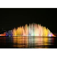 Exterior Musical Water Fountain With Led Lights Water Surface Application