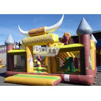 Wholesale Kids Clearance Western Theme House Inflatable Toddler Playground With Slide from china suppliers