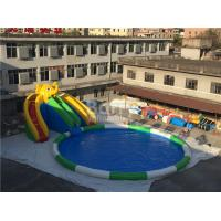 China 0.55mm PVC Tarpaulin Inflatable Water Slide Park For Kids / Inflatable Water Games on sale