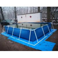 Wholesale BGO 4M * 3M * 0.8M Rectangle Shape Tarpaulin Fish Tank Steel Frame With Liner from china suppliers