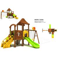Wholesale Villa Backyard Childrens Playhouse With Slide , Childrens Garden Slide 390cm Height from china suppliers