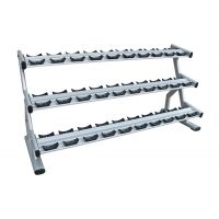 Wholesale Durable Steel Double Barbell / Three-Tier Dumbbell Rack For 15 Pairs Of Dumbbells from china suppliers