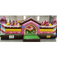 Wholesale Inflatable Candy Fun City Children Playground With Small Slide / Blow Up Trampoline from china suppliers