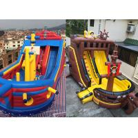 Wholesale Custom Giant Inflatable Pirate Ship Slide For Rental Jumping Bouncer Ship Slide from china suppliers