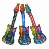 Wholesale Guitar-shaped Balloons, Made of PA/PE Materials, Available in Various Colors, Can Add LED from china suppliers