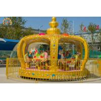 Wholesale Royal Amusement Park Carousel 12 P Capacity , 3.3 - 4.5 M Horse Carousel Ride from china suppliers