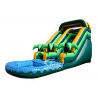 China Summer Parties Coconut Tree Inflatable Water Slide With Pool For Kids on sale