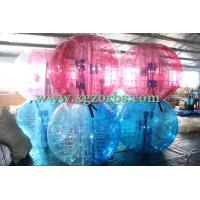 Wholesale Half Blue Half Clear Inflatable body zorb body bumper ball for adults from china suppliers