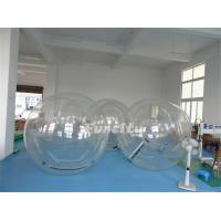 Customized 1.0 Mm PVC / TPU Clear Inflatable Bubble Ball For Swimming Pool