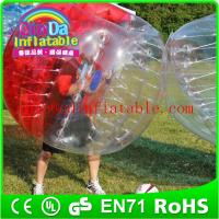 China Inlfatable Color Bumper Ball Bubble Football  Soccer Body Zorb bubble soccer ball suit on sale