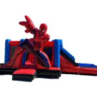 Wholesale Attractive Spiderman Safe  3 In 1 Combo Bounce House Good Stitching from china suppliers