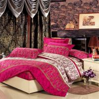 Wholesale Colorful Full Size 5 Piece Polyester Bed Set Embroidered Printed Plain Dyed from china suppliers