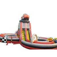 Wholesale Top Level Inflatable Wet Dry Bouncers With Slide / Kids Inflatable Water Slides from china suppliers