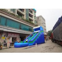Wholesale Blue 0.55mm PVC Tarpaulin Backyard / Home Inflatable Water Slide For Adult N Kids from china suppliers