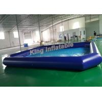 Wholesale Outdoor Giant Blue  PVC Square Inflatable Swimming Pool Size 10m X 8m For Kids Use from china suppliers