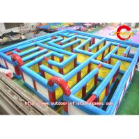 Quality Square Outdoor Large Inflatable Maze Of Children's Sports Games for sale