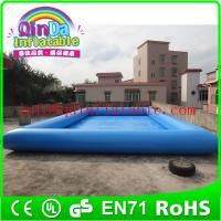 Wholesale QinDa square inflatable pool swimming pool starting block rectangular plastic pool from china suppliers