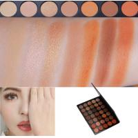 Wholesale Neutral Eye Makeup Eyeshadow High Pigment Autumn Orange Toned Eyeshadow Palette from china suppliers
