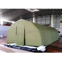 China Single Layers Arched Inflatable Event Tent Oxford Fabric With Green Color on sale