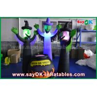 Wholesale 210D Oxford Cloth Inflatable Scary Ghosts and Magic Jar with LED Lighting for Halloween from china suppliers