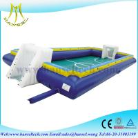 China Hansel inflatable soap soccer field,inflatable soccer arena,inflatable soccer game on sale
