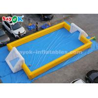 Wholesale 12*6m Yellow PVC Inflatable Sports Games Inflatable Soccer Field from china suppliers