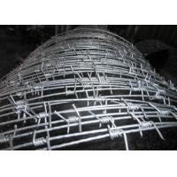 Buy cheap Hot Dipped Galvanized High Tensile Barbed Wire 10BWG X 12 BWG Per Roll from wholesalers