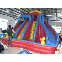China Outdoor Kids Inflatable Water Park With Slide / Inflatable Water Slide PVC Tarpaulin on sale