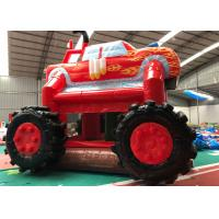 Wholesale Professional Fire Truck Bounce House , Monster Truck Jump House 4.5M X 4.5M X 4M from china suppliers