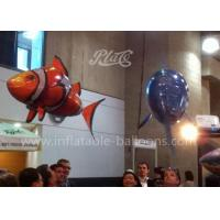 Wholesale Funny PVC Inflatable Products , Inflatable Flying RC Air Swimmers Clown Fish from china suppliers