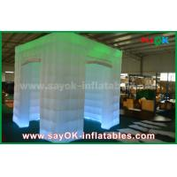 Green Color Inflatable Led Photo Booth For Wedding / Club / Party