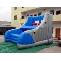 China UV Resistant Inflatable Amusement Park With Shoe-Shaped Basketball Shooter on sale