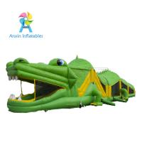 China 2017 New design Inflatable obstacle course for party rental/ kids Crocodile obstacle course on sale