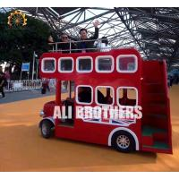 Buy cheap Playground Tourist Trackless Train Ride London Bus Ride 18 P Capacity from wholesalers