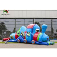 Wholesale Colorful Tarpaulin Blow Up Multiplay Train Tunnel Children Amusement Playground from china suppliers